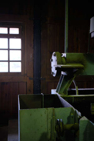 old industrial machinery for processing minerals