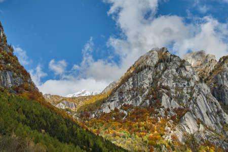 waterfall in the Mountain lake in Val di Mello, Val Masino, Italy - lombardy Stock fotó