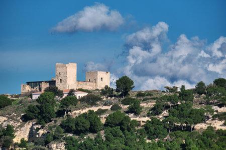 view of Medieval Cagliari Castle of San Michele - Sardinia - Italy