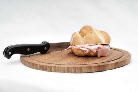 A mortadella Bologna bun