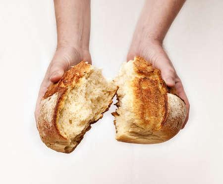 Sharing bread Imagens