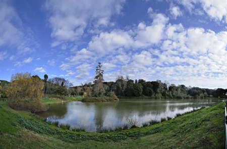 Ornamental lake in a public city park Stock Photo - 18191818