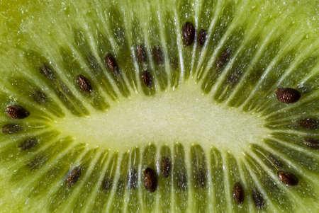 macrophotography: Sliced  Kiwi fruit