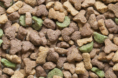 Dried pet food of many colors photo