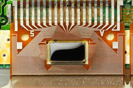 Closeup of an electronic board for LCD screen photo