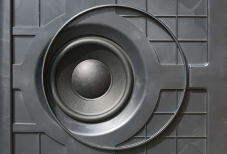 Black Bass speaker for audio reproduction Stock Photo - 18396483
