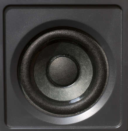 Black speaker for audio reproduction photo
