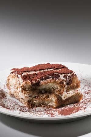 Classic, traditional tiramisu fresh cake from Italian tradition photo