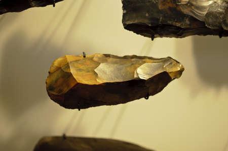 Flint stone made by prehistoric man Imagens