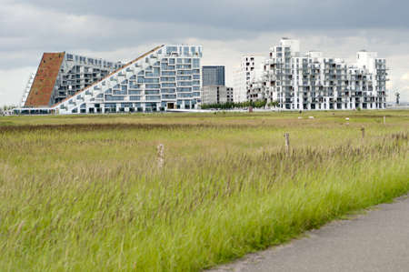 coutryside: Modern buildings in the middle of coutryside Stock Photo