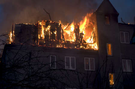Building on fire Imagens