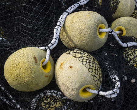 Floatings and net for industrial fishing Stock Photo - 19066036