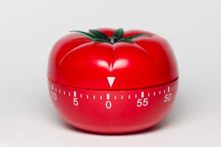Pomodoro (tomato) technique is a study method that helps avoiding procrastination using a kitchen timer Stock Photo