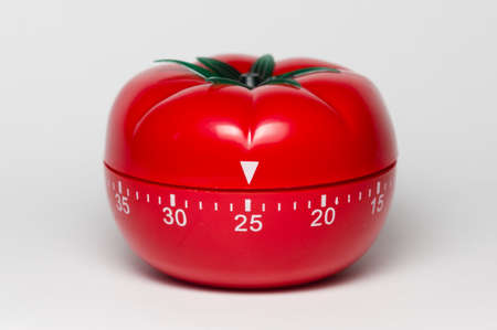Pomodoro (tomato) technique is a study method that helps avoiding procrastination using a kitchen timer Reklamní fotografie