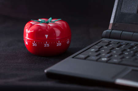 Mechanical Tomato shaped kitchen timer for cooking, studying and working.