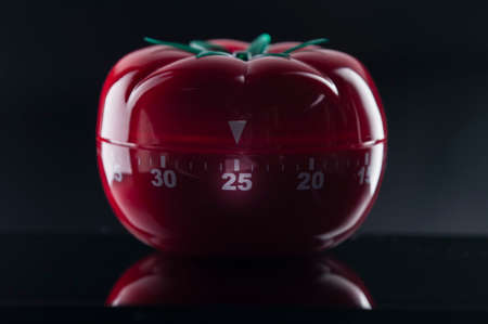 understand: Mechanical Tomato shaped kitchen timer for cooking, studying and working.