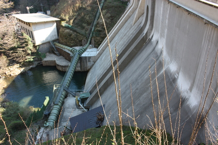 giant dam or hydroelectric power station in Isola Santa, Tuscany, Lucca.