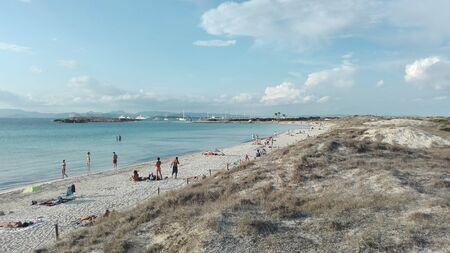 belle et célèbre plage des îles baléares. Formentera, Cala di Ses Illetes en Espagne