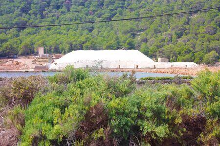 Ibiza salt flats or Ses Salines salt mines in spain