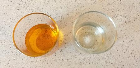 Italian alcoholic aperitifs, white and orange.