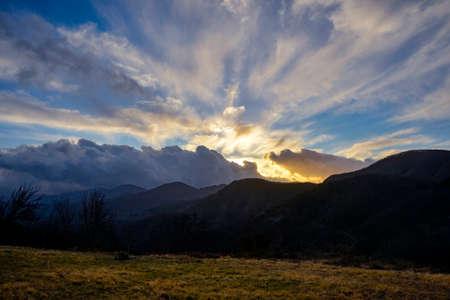 apennines: Sunset Tuscan Apennines