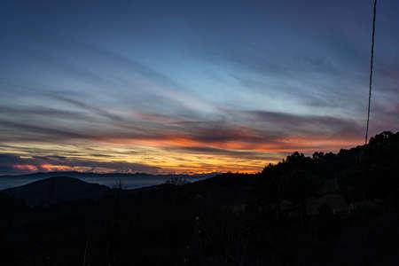 sunset on the lawn Stockfoto - 110069799