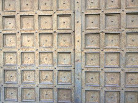 carmine: ornamental motif frieze latelare door of the church of Santa Maria del Carmine in Milan Brera