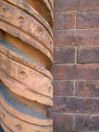 friso: iglesia de Santa Mar�a del Carmine friso lleva Mil�n Foto de archivo