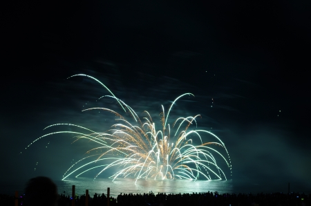 watch a fireworks show is something exciting  Editorial