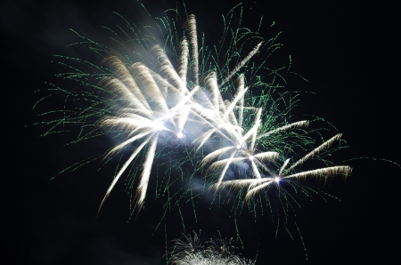 watch a fireworks show is something exciting  Stock Photo