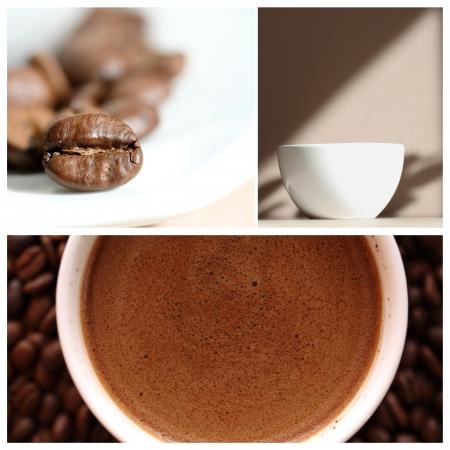 콜라주, 커피 스톡 사진