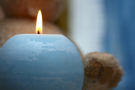 blue candle and the toy