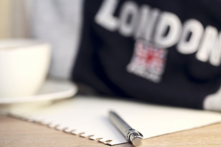 image of pen, direction to London