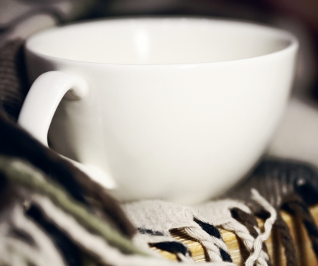 cup of tea anf warm scarf