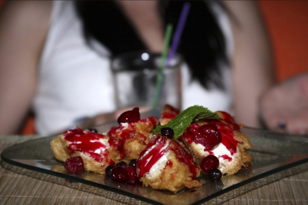 dessert, close up, fried ce-cream Stock Photo - 15581443