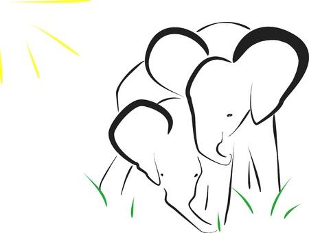 animalitos tiernos: elefantes, imagen