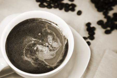 closeup image of cup of coffee