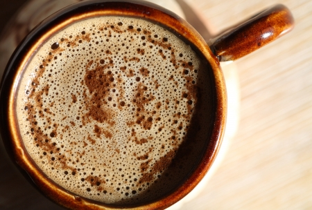macro image of cup of coffee 스톡 사진