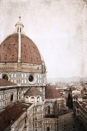Florence, Italy,  artwork  in vintage style Stock Photo