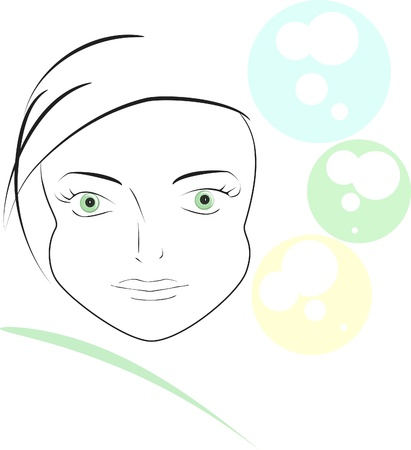 vector image,  beautiful girl Vector
