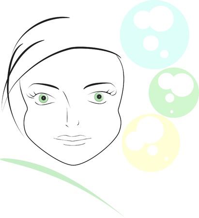 fib: vector image,  beautiful girl