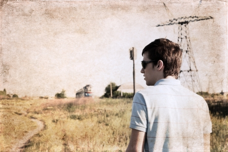 the anticipation: artwork in grunge style,  anticipation