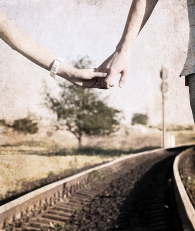 artwork in grunge style,  couple