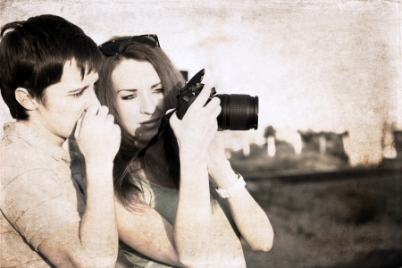 artwork in grunge style,  photographers