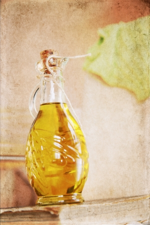 artwork in retro style,  olive oil