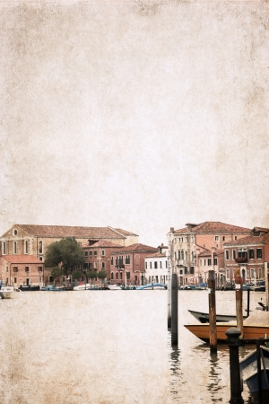 artwork  in grunge style,  Venice, Italy