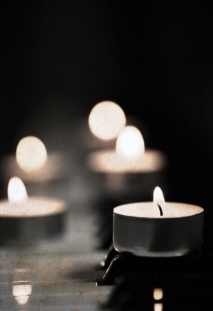 artwork  in grunge style,  candles