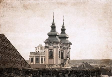 artwork  in retro style, Hungary, Budapest