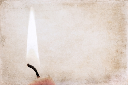 artwork in retro style, burning candle
