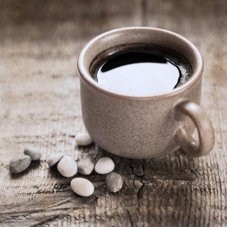 artwork  in retro style,  coffee Stock Photo